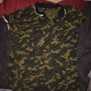 Forever 21 camo collared shirt.